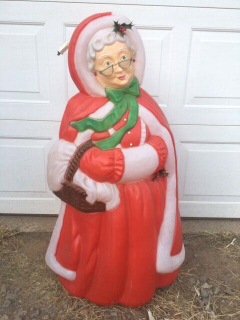 Vintage Santa's Best Mrs Santa Claus Christmas Blow Mold 40 Light Up Blowmold