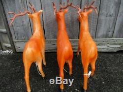 Vintage Santas Best 35 Reindeer Buck Deer Lighted Blow Mold Christmas Decor
