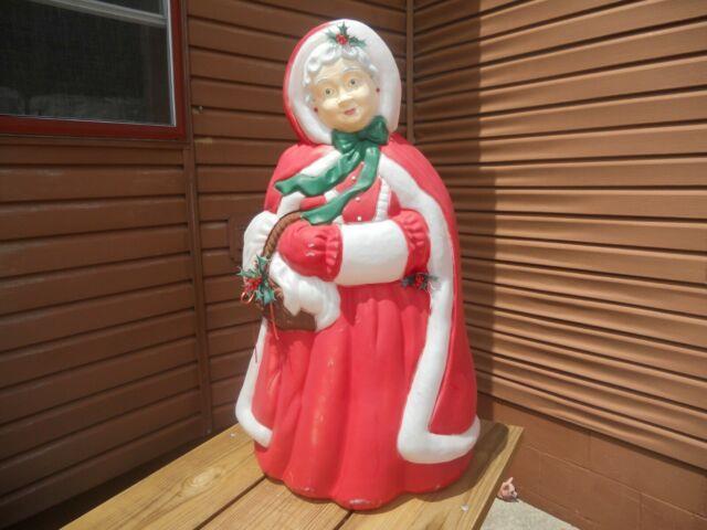 Vintage Santas Best Mrs. Santa Claus Christmas Blow Mold 40 Lights Yard Decor