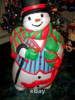Vintage Santas Best Snowman Blow Mold
