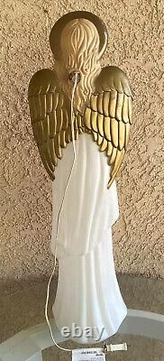 Vintage TPI Angel Choir With Horn Nativity Lit Blow Mold Christmas Holiday 34