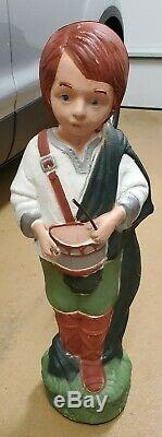 Vintage TPI Blow Mold Christmas Drummer Boy Nativity Canada Yard Decor
