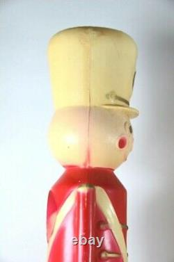 Vintage Union Products Christmas Blow Mold Nutcracker TY Soldier Boy&Girl 16.5