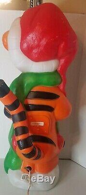 Vtg 1999 Tigger Lighted Santa's Best Disney Christmas Blow Mold -36 Tall