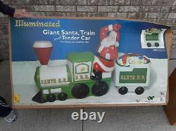 Vtg ALL NEW General Foam Blow Mold S. R. R. Santa R. R. Train With 2 Tender Cars