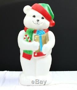 Vtg Empire 35 Christmas Polar Bear Blow Mold Plastic Christmas Yard Decoration