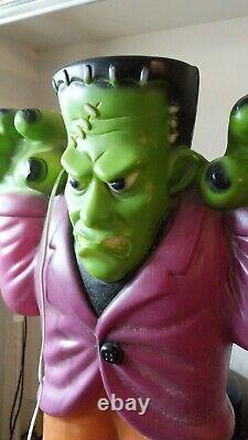 Vtg Empire Blow Mold Frankenstein Monster Lighted 36 Halloween Yard Decoration