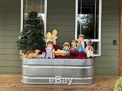 Vtg Empire Blow Mold Nativity 10 Piece Set