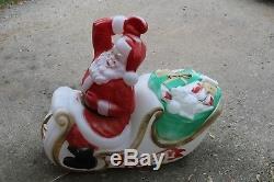 vtg empire santa sleigh lighted blow mold christmas yard decoration - Blow Mold Christmas Yard Decorations