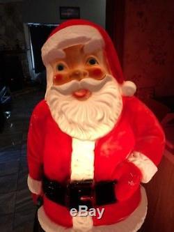 Vtg General Foam 60 Santa Claus Blow Mold Christmas Yard Decor 5 Feet Tall Rare