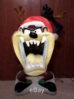 Vtg Santa's Best Tasmanian Devil Lighted Christmas Blow Mold 40 -RARE