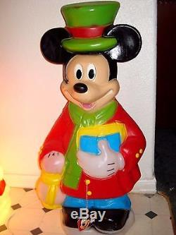 Vtg Santas Best Disney Minnie & Mickey Mouse Xmas Blowmold 34 tall ORIGINAL TAG