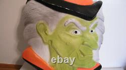 Witch Head Don Featherstone Blow Mold Halloween